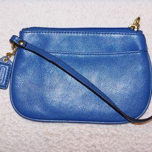 Coach cobalt blue wristlet